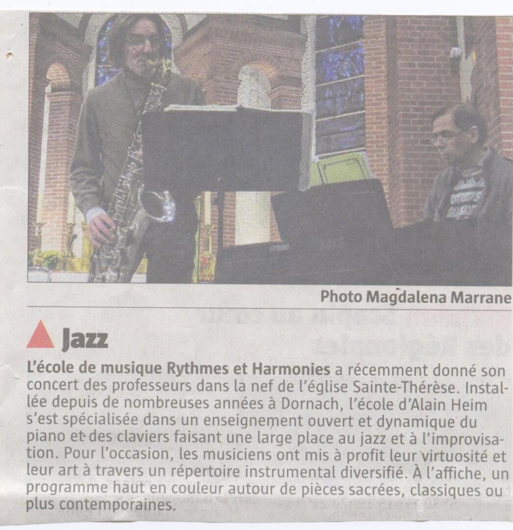 article concert des professeurs 2013 rythmes et harmonies